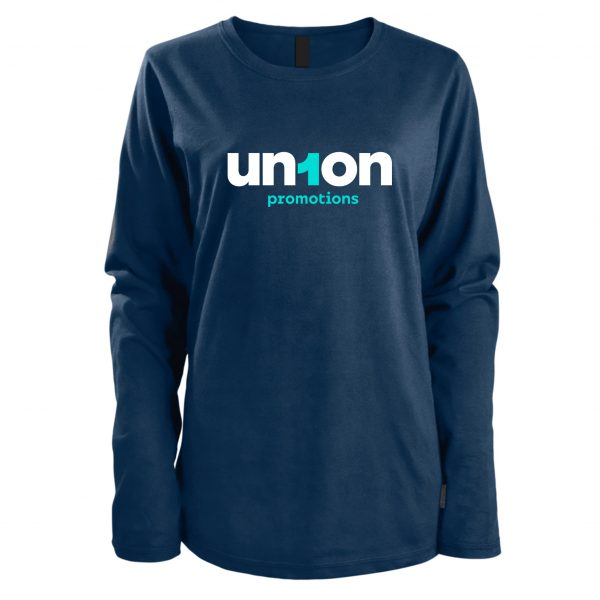 Women's Long Sleeve Tee - Navy Blue