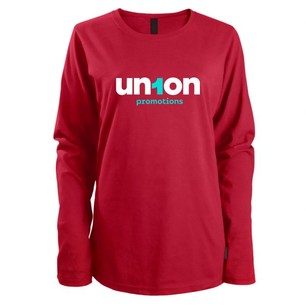 Women's Long Sleeve Tee - Red