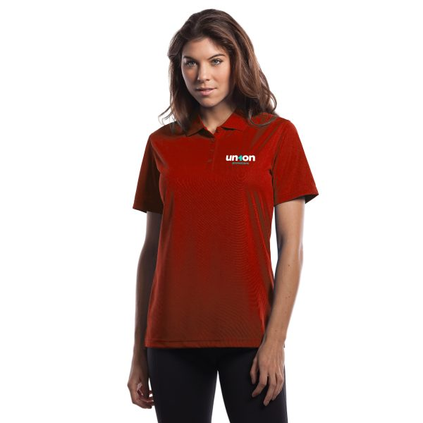 Womens Golf Polo - Red
