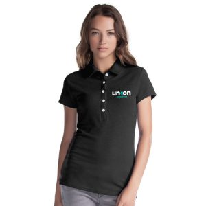 Womens Hole-in-One Polo - Black