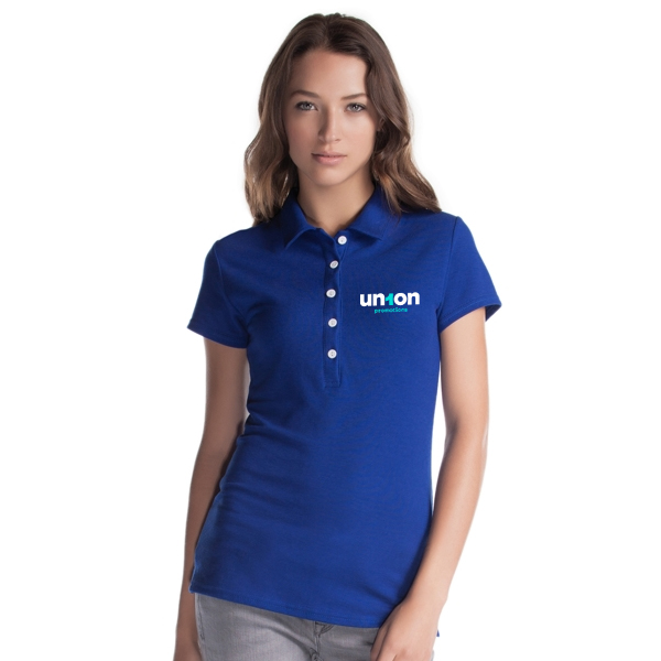 Womens Hole-in-One Polo - Blue
