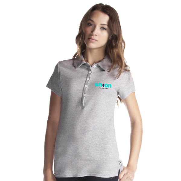 Womens Hole-in-One Polo - Light Gray