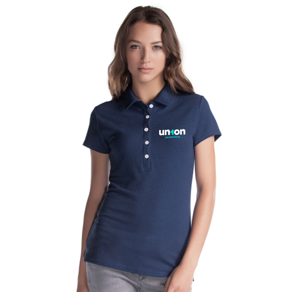 Womens Hole-in-One Polo - Navy Blue