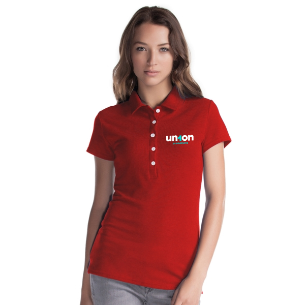Womens Hole-in-One Polo - Red