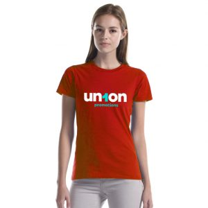 """Womens The Mighty Cotton """"T"""" – Red"""
